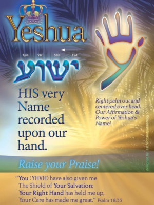 Yeshua name on righthand